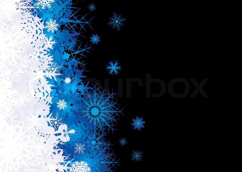 weihnachten schneeflocken inspirierten hintergrund in blaue und schwarz vektorgrafik colourbox. Black Bedroom Furniture Sets. Home Design Ideas