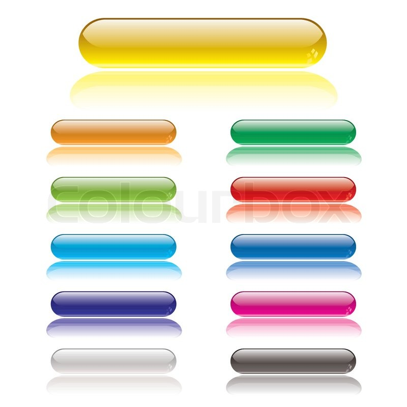 Stock vector of 'Collection of lozenge gel filled icon buttons with shadow'