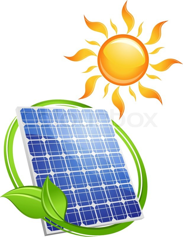 Sustainable Solar Energy Concept With Stock Vector