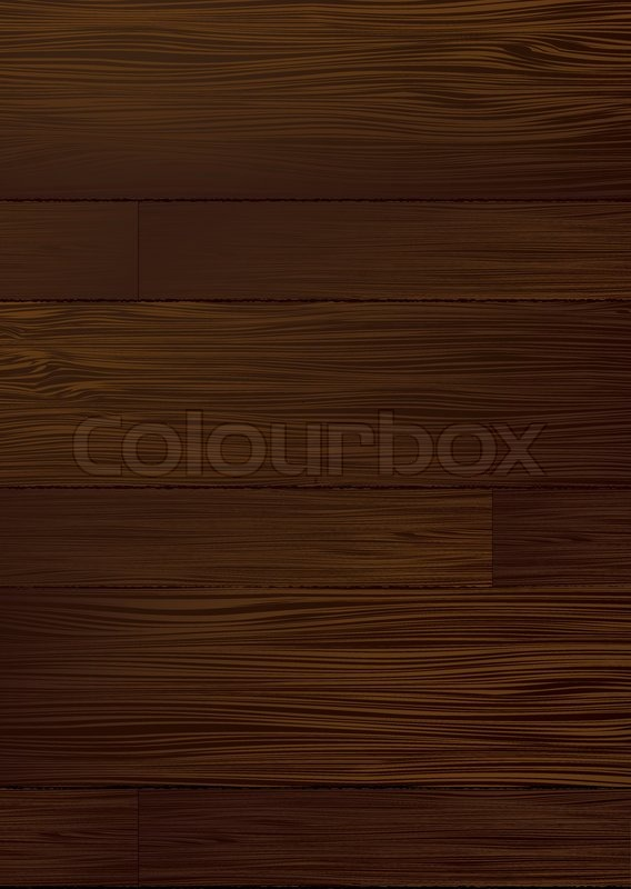 Illustrated Dark Piece Of Wood That Stock Vector