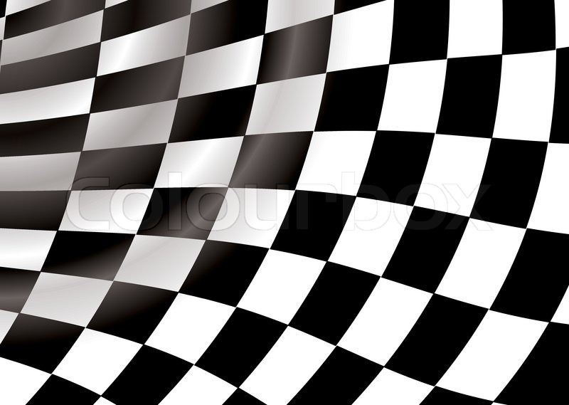 Curved checkered flag in a tunnel like background an ideal ...