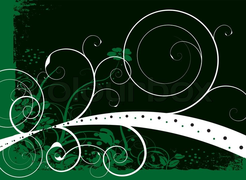 natural green and black background with a floral design