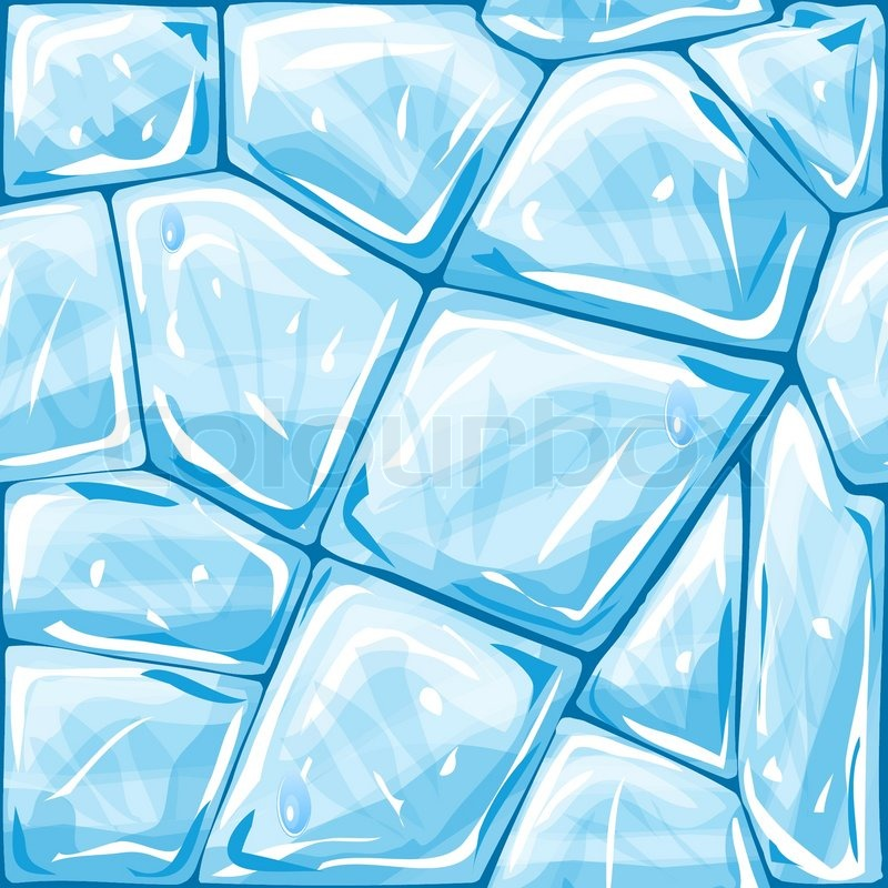 Vector Illustration Of Blue Ice Brick Seamless Pattern Stock Adorable Ice Pattern