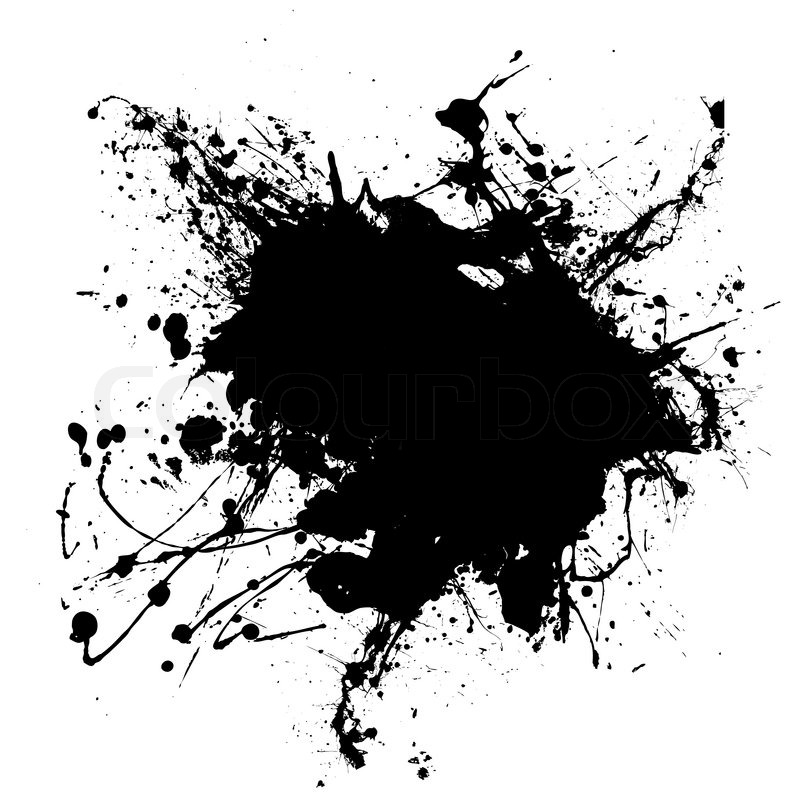 Abstract Black And White Ink Splodge That Is Editable Stock Vector Colourbox