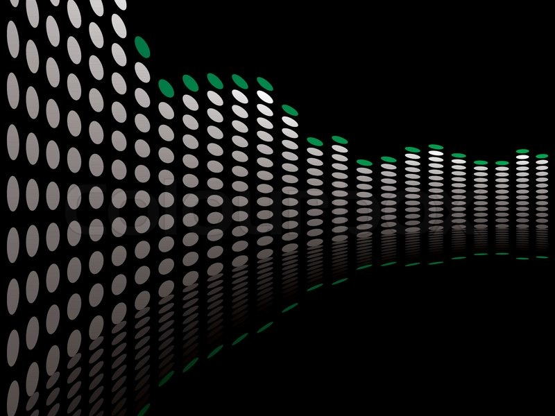 graphical equaliser illustration ideal as a background or
