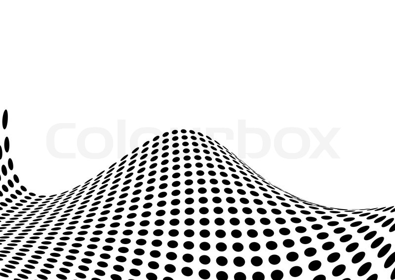 Illustrated ocean swell made out of halftone dots stock vector colourbox