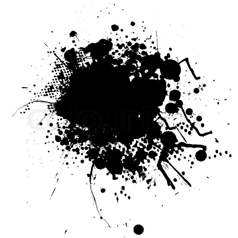 ink splat mono with room to add your own text stock vector colourbox rh colourbox com black ink splatter vector black ink splatter vector