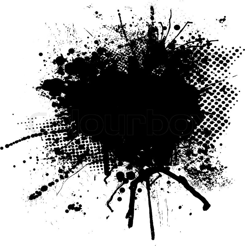 black and white ink splodge with room for your own text stock rh colourbox com ink vector texture pink victoria's secret