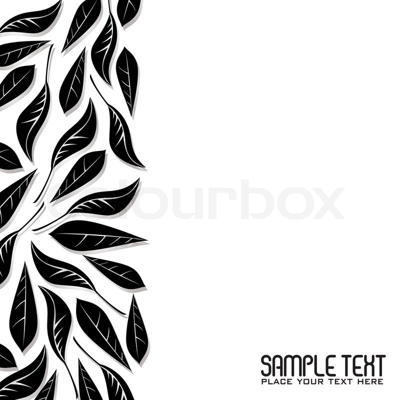 Abstract Leaf Designed Border With Stock Vector Colourbox