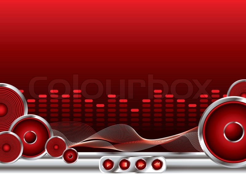 Abstract Music Background In Red And Black With Copy Space