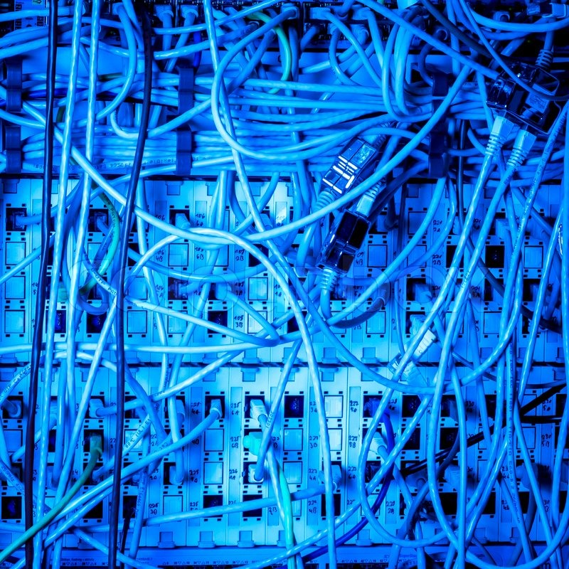 Concept of network infrastructure with cables, stock photo