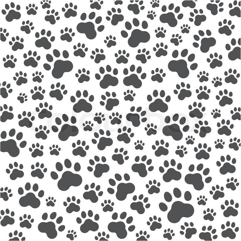 Cat or dog paws background vector illustration stock vector cat or dog paws background vector illustration stock vector colourbox voltagebd Choice Image