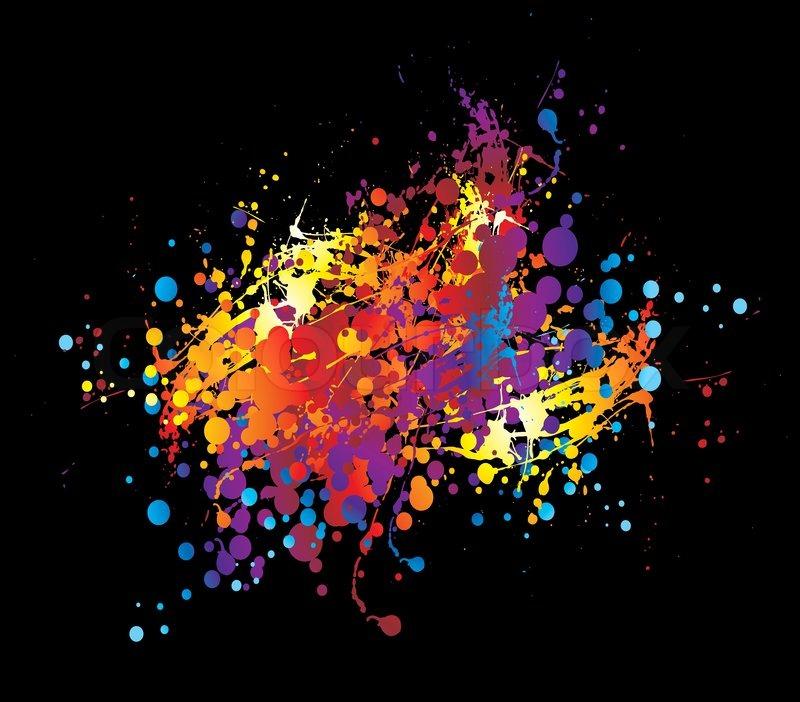 warf auf einem schwarzen hintergrund in leuchtenden farben
