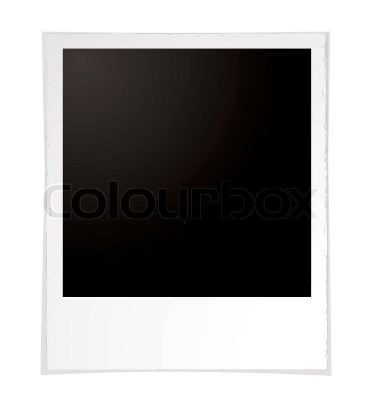 beispiel f r ein einfaches polaroid mit zimmer ihr eigenes bild hinzuf gen stock vektor. Black Bedroom Furniture Sets. Home Design Ideas