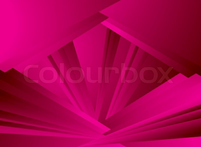 Rays of light overlap each other in magenta making an ...