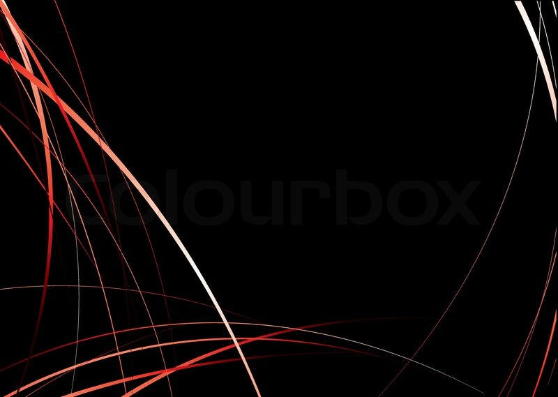 Flowing red and black background image with copyspace ...