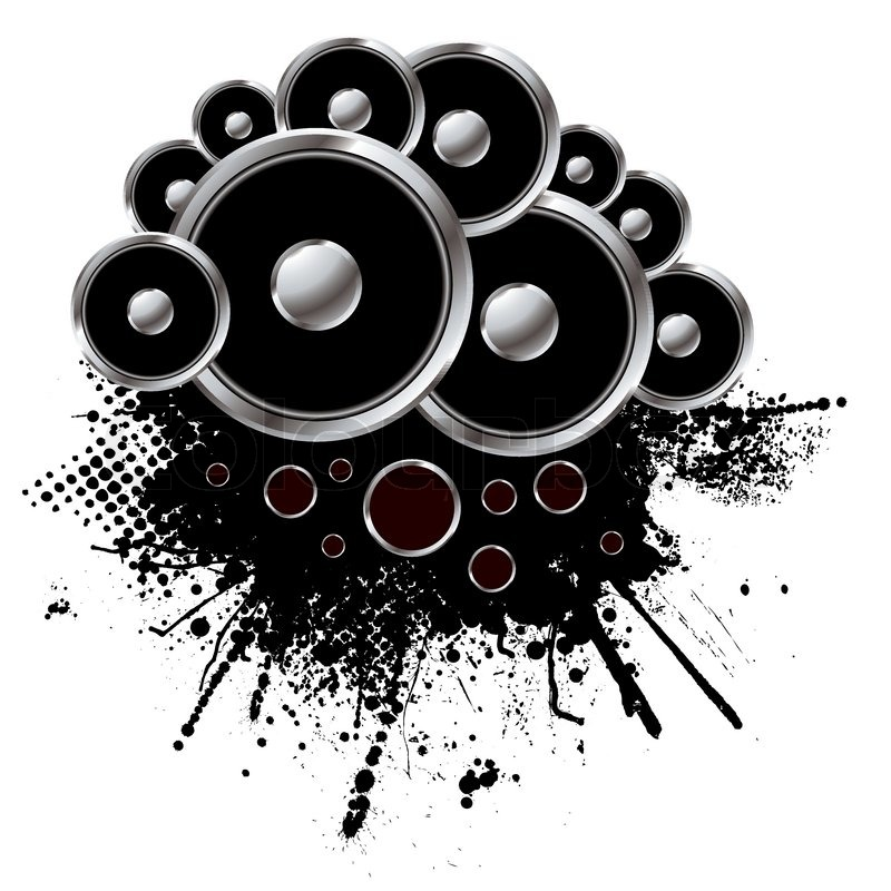 Grunge Style Speaker Background With ...