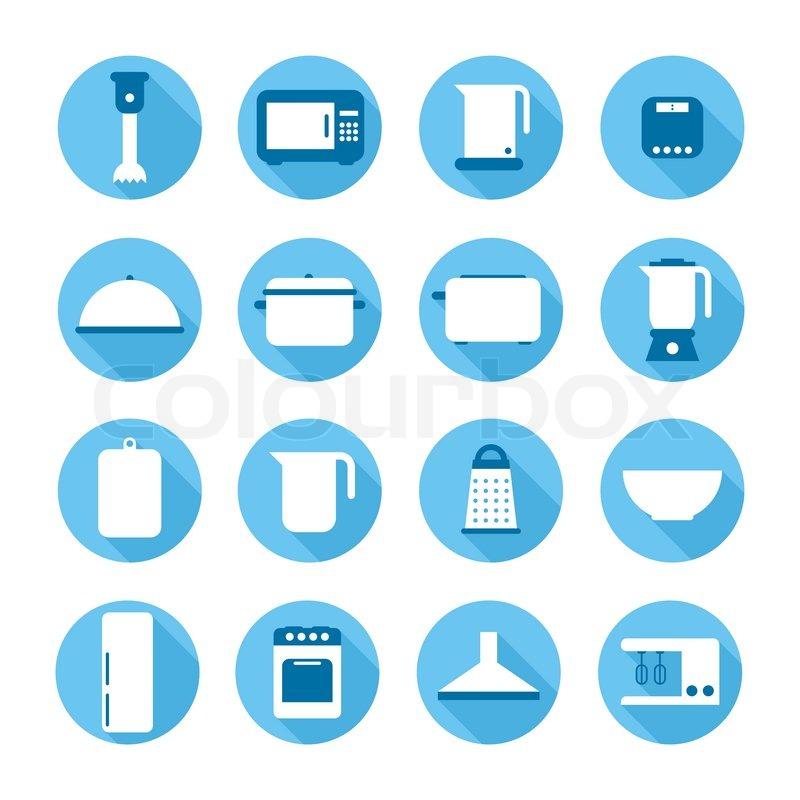 Geschirr, haushalt, domestiziert  Vektorgrafik  Colourbox ~ Geschirrspülmaschine Zeichen