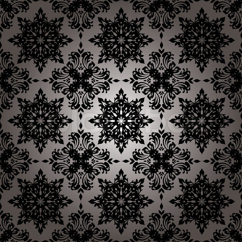 Modern Sexy Repeat Wallpaper Background Image In Black And White Stock Vector Colourbox