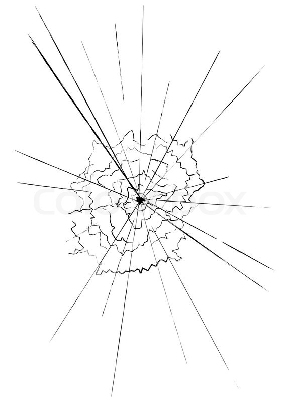 Illustration Of Shattered Glass Over A Stock Vector