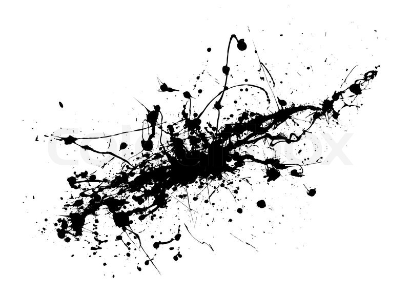 Black and white ink splat abstract     | Stock vector
