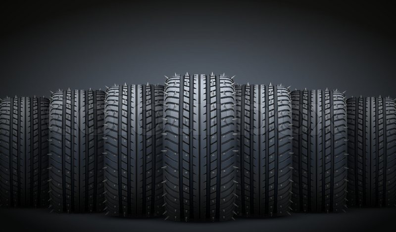 dark background of realistic rubber tires and spikes tire tracks vector free tire tracks vector free