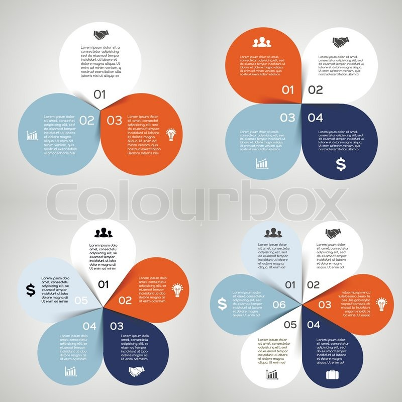 Vector circle infographics set. Template for diagram, graph ...