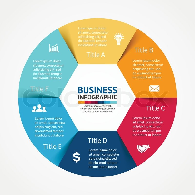 Vector circle infographic template for diagram graph presentation vector circle infographic template for diagram graph presentation and chart business concept with 6 options parts steps or processes cheaphphosting Images