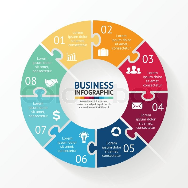 Vector circle infographic template for diagram graph presentation vector circle puzzle infographic template for diagram graph presentation and chart business ccuart Gallery