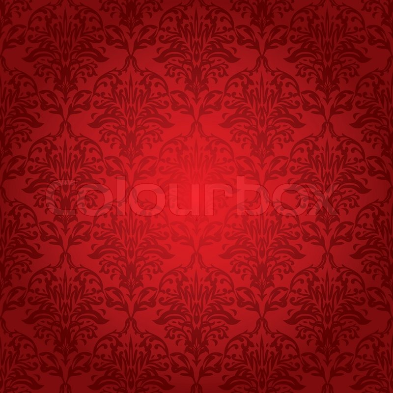 Different Shades Of Red In A Repeating Design Makes An