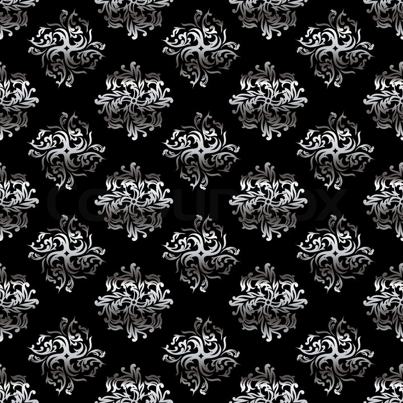 Classy Black And Silver Wallpaper Design With Flowing Folds