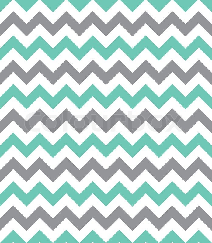 Mint Green And Grey Seamless Chevron Pattern Stock Vector Colourbox Custom Cheveron Pattern