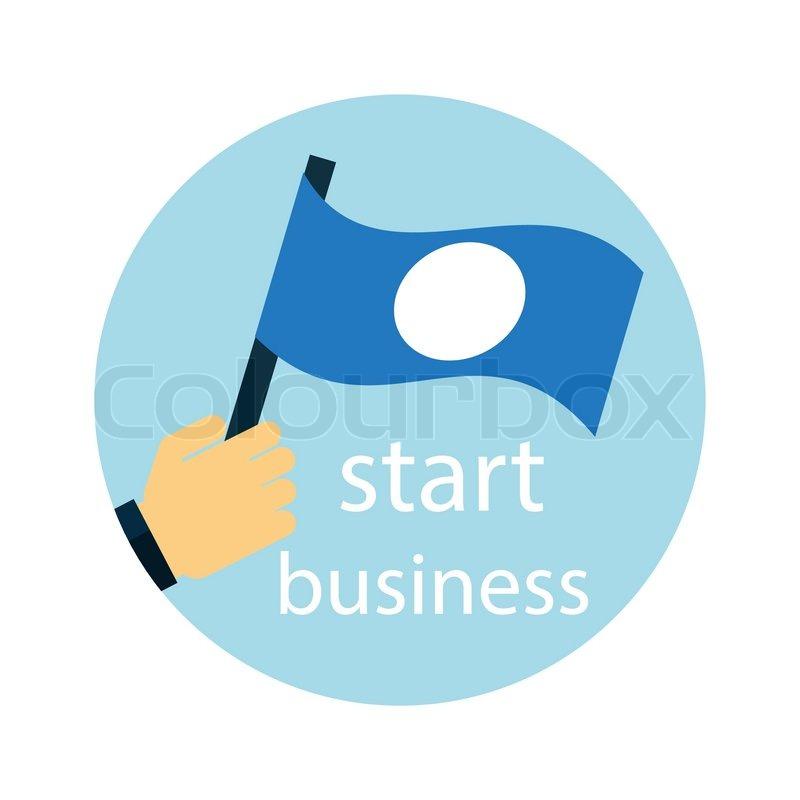 Business Development Icon : Business strategy development startup icon on white