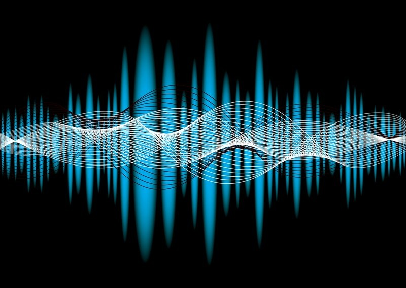 Music Equalizer Wallpaper: Blue Music Equalizer Abstract Background With Wave Effect