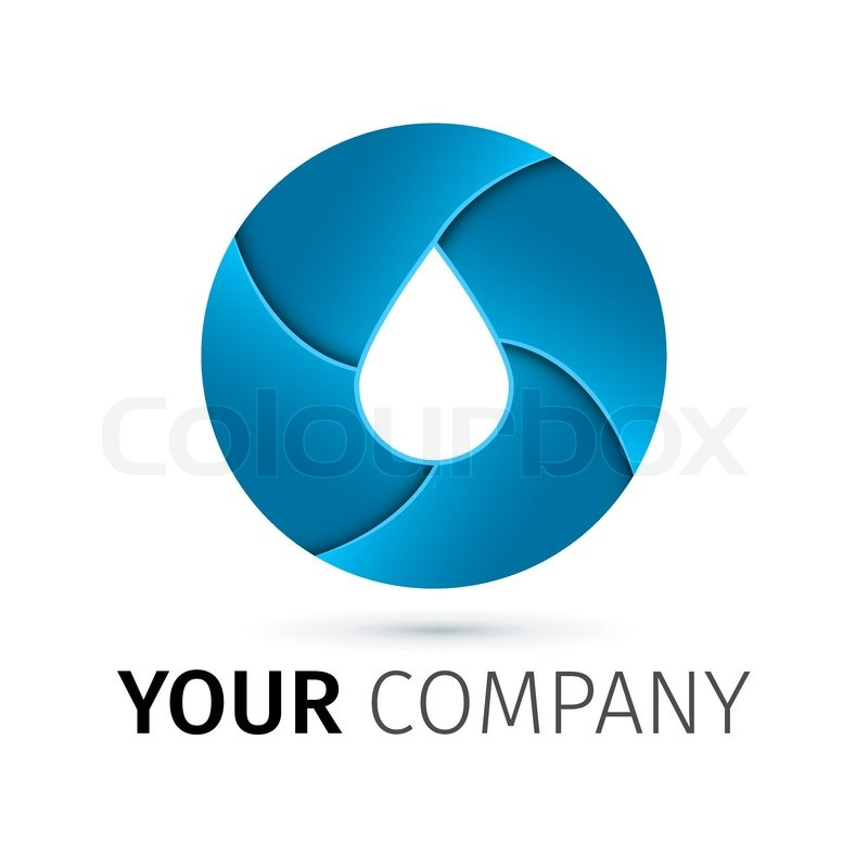 Water Drop Vector Stock Vector of 39 Vector Logo Design Template Abstract Blue Water Drop