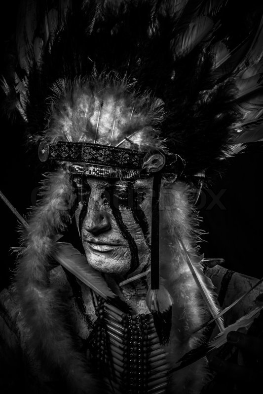Tribal Native, American Indian chief     | Stock image | Colourbox