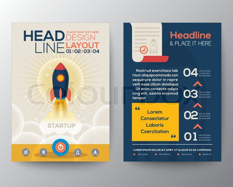 Brochure Flyer Design Layout Vector Template In A Size With Start - Brochure flyer templates