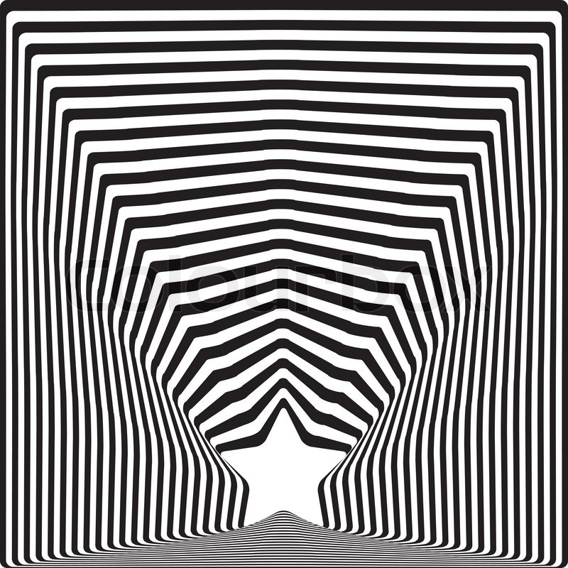 Visual Arts Drawing: Star Black Stripes Optical Illusion ...