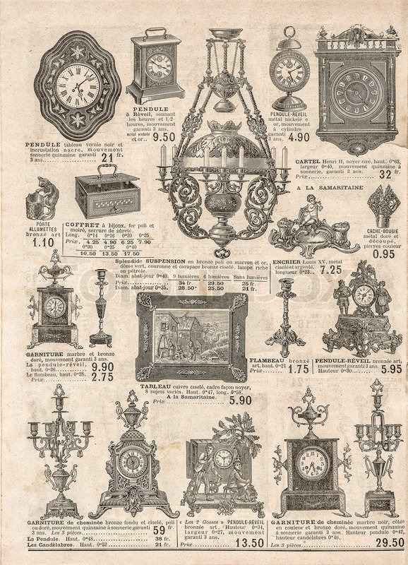 Antique Victorian Objects And Stock Photo Colourbox
