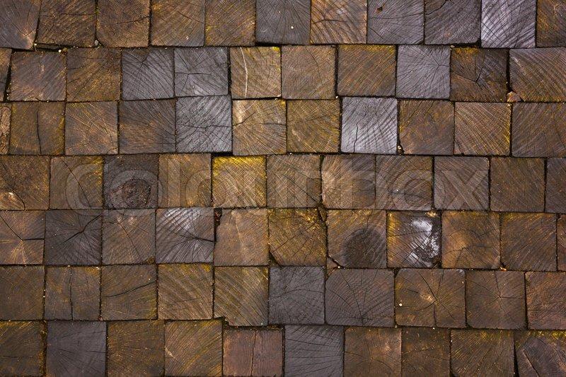 Pavement Texture Of Wooden Blocks Stock Image Colourbox