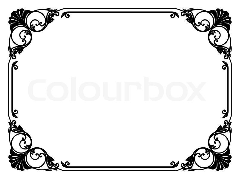 Arabesque, schlicht, rahmen | Vektorgrafik | Colourbox