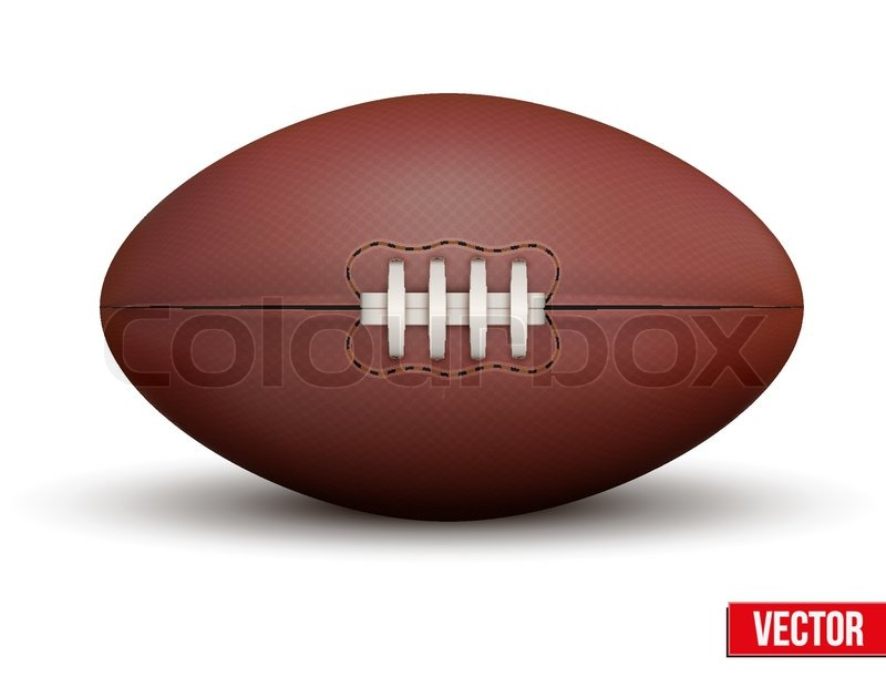 Classic Rugby Ball Isolated On A White Background