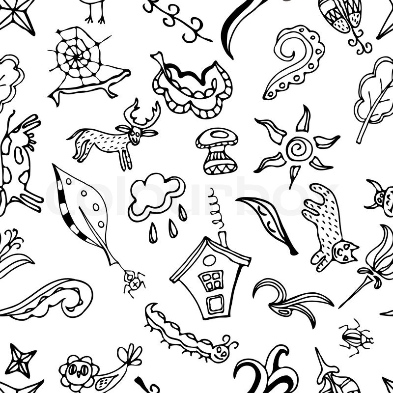 vector seamless pattern doodling stock vector colourbox The Weather Channel Desktop stock vector of vector seamless pattern doodling design kids illustration doodle background