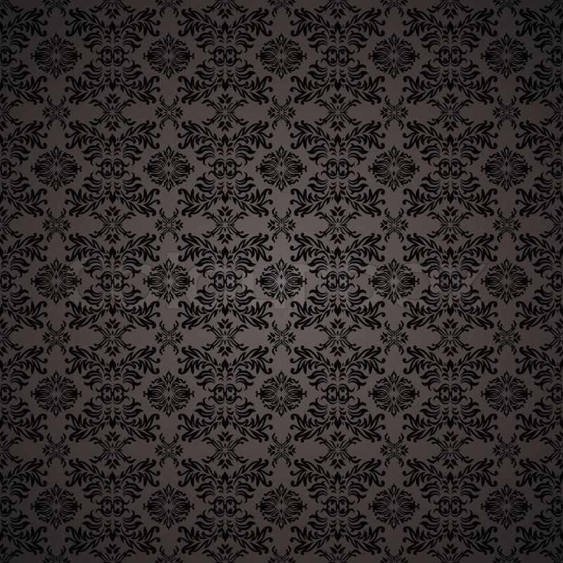 Gothic Pattern Wallpaper blue seamless wallpaper background with tile gothic pattern