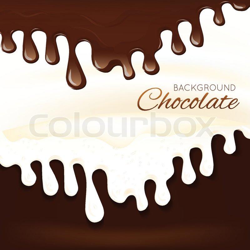 sweets dessert molten chocolate splash stock vector colourbox sweets dessert molten chocolate splash