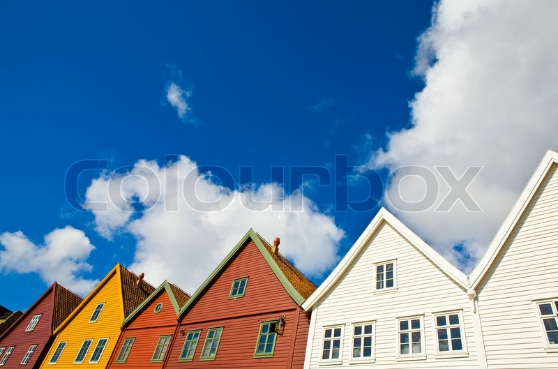 Stock image of 'Traditional Norwegian architecture'