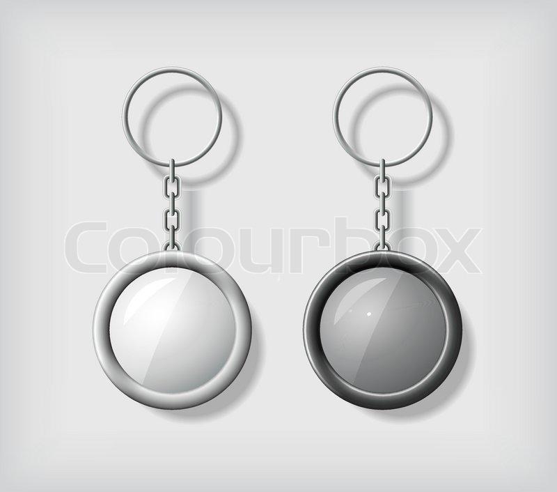 Two key chain pendants mockup, in     | Stock vector | Colourbox