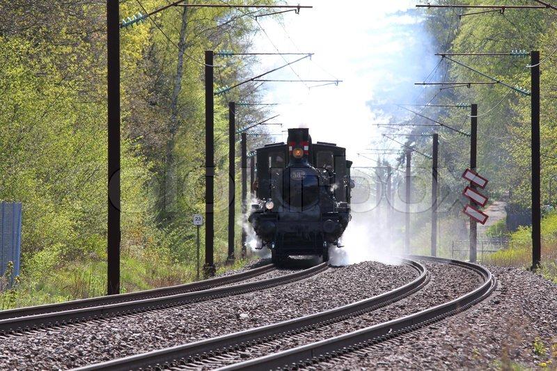 Steam train, stock photo