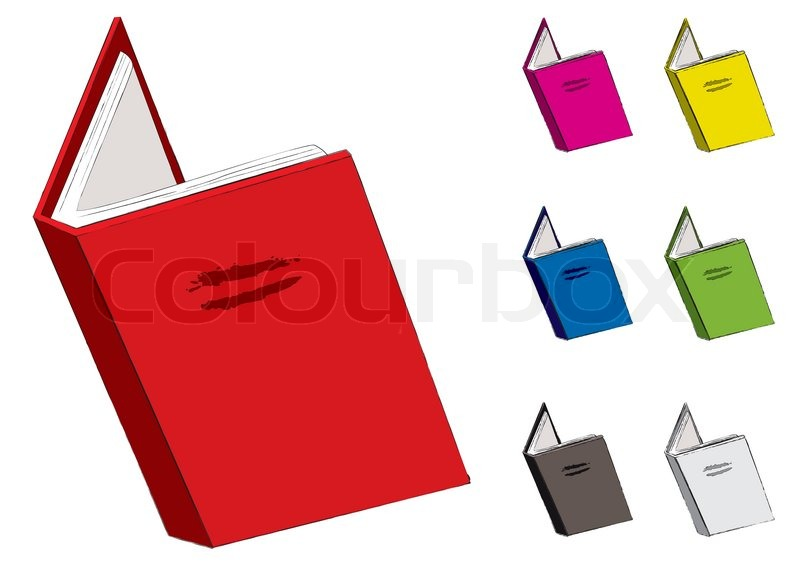 Open Book Clip Art Color Clipart Collection: Open Cartoon Book Illustration With ...