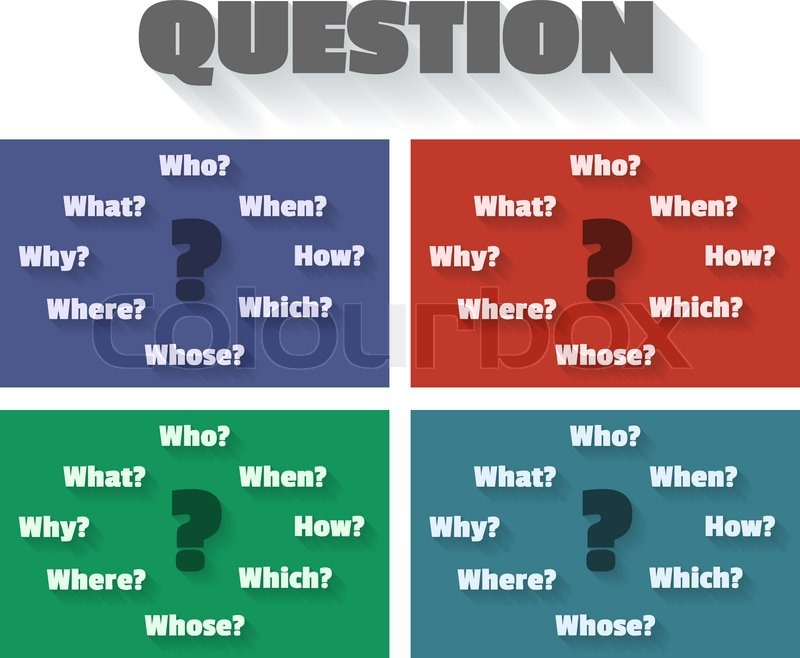 question marks and words who how when which why whose where